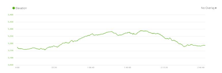 Elevation profile day 8 Gorak Shep - EBC - Gorak Shep