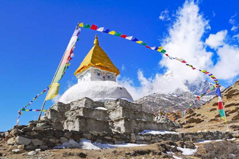 The new stupa in Dingboche, a short walk from the village