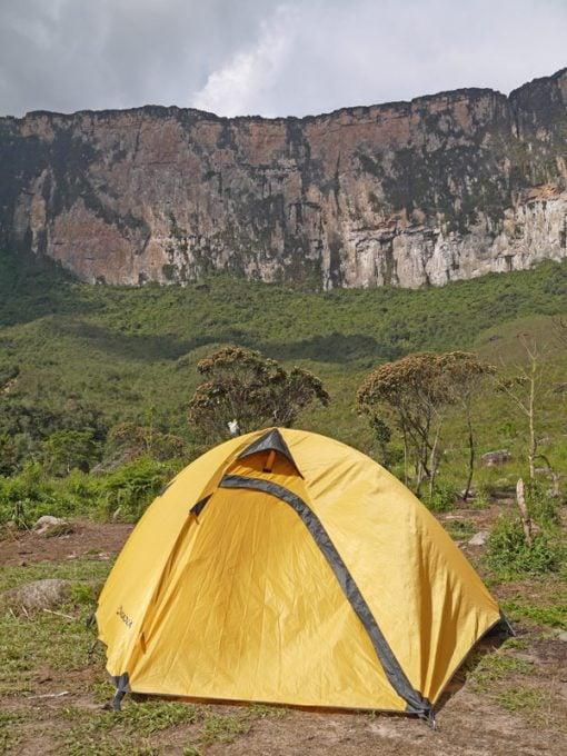 Camping at Base camp Mount Roraima trek