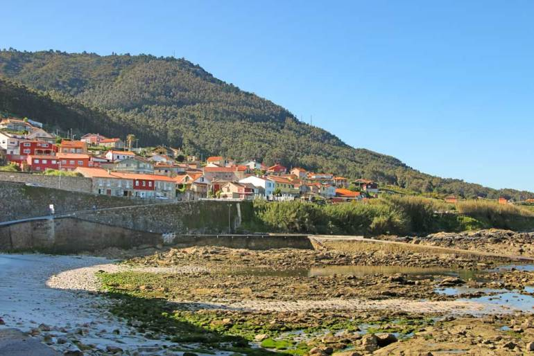 A coastal town on the Portuguese Coastal route in Spain