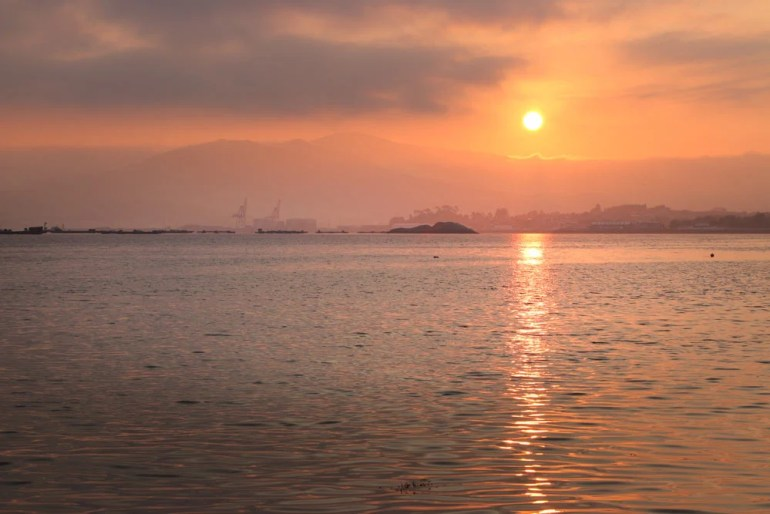 Beautiful sunrise from the beach on the Spiritual Way