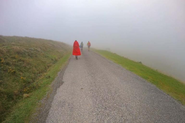 Three pilgrims on the Camino de Santiago