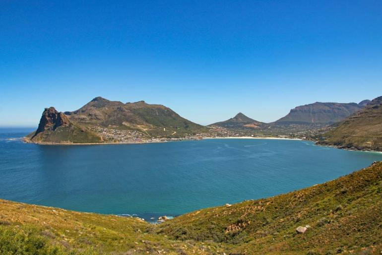 The coastal scenery on a day scenic drive from Cape Town