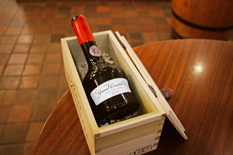 At Groot Constantia we tasted the Grand Constance 2016, the wine that was so popular in Napoleon's era