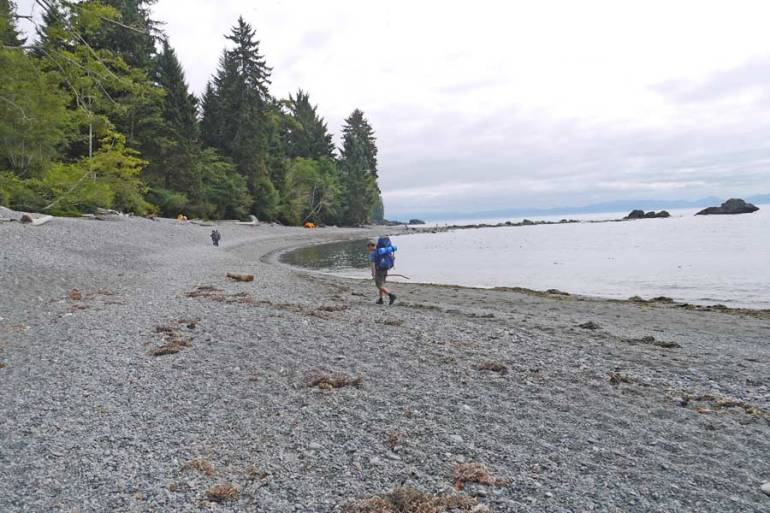 beach hike vancouver island