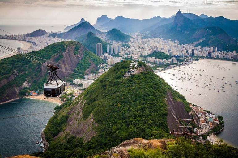 the sugar loaf mountain in Rio de Janeiro