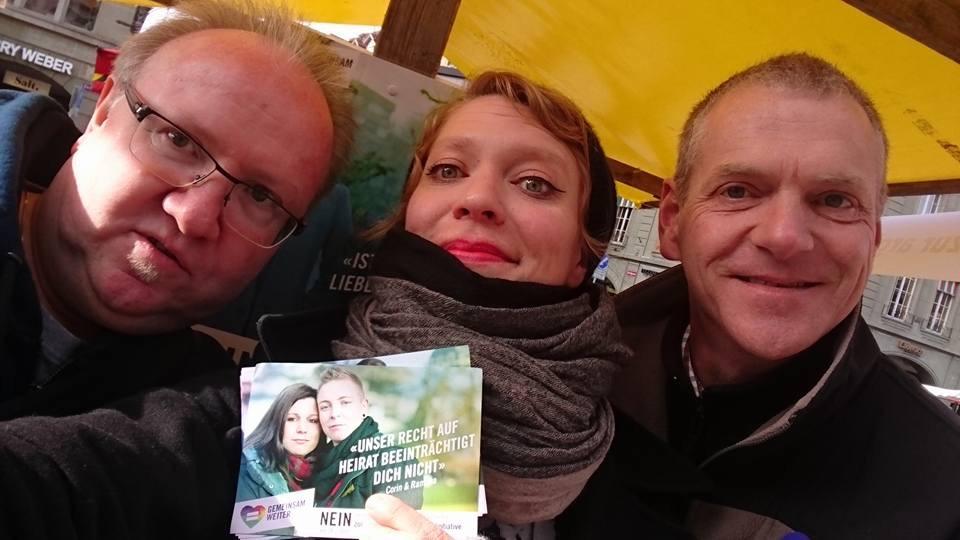 1000 Flyer gegen die CVP-Ehe-Initiative