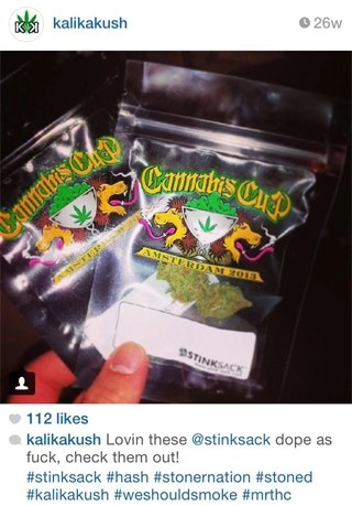 Instagram Review: Lovin these @stinksack dope as fuck, check them out!
