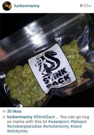 Instagram Review: #StinkSack You can go hug yo mama with this lol #weedporn #fatsack #smokersparadise #smokersonly #dank #stickyicky