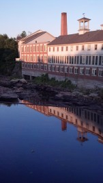 Formerly a water-powered textile mill, this building on the Souhegan River now provides independent living apartments