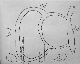 Abe Bosma, tekening tuin Gerrit Vlaskamp