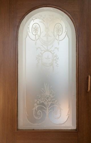 Glaspaneel tochtdeur (Bouvy te Dordrecht)
