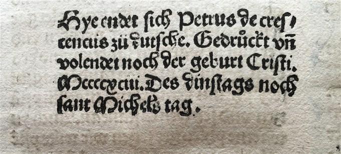 Petrus de Crescentiis, uit de Duitse vertaling van Ruralia commoda. 1493.