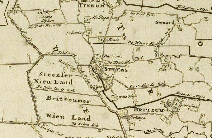 Kaart 'Uitbeeldinge der Heerlijkheid Friesland'