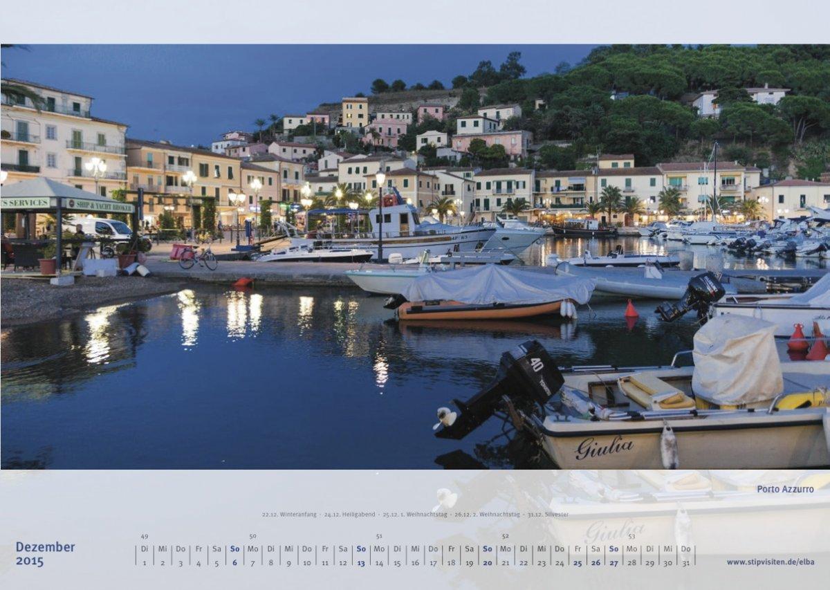 Dezemberblatt Kalender 2015 –Elba