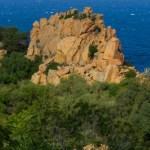 Der rote Felsen von Arbatax