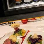 Steak vom 800-Grad-Grill und Wein aus dem Enomaten