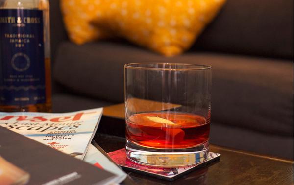 red lantern homebodies cocktails // stirandstrain.com