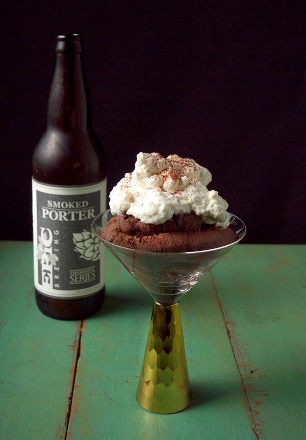 Chocolate Smoked Porter Beer Mousse // stirandstrain.com