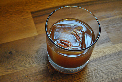 Pecan Old Fashioned Cocktail MxMo Roundup // stirandstrain.com