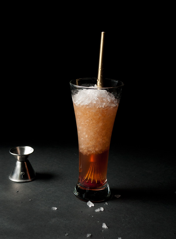 Cherry Sumac Swizzle Cocktail // stirandstrain.com