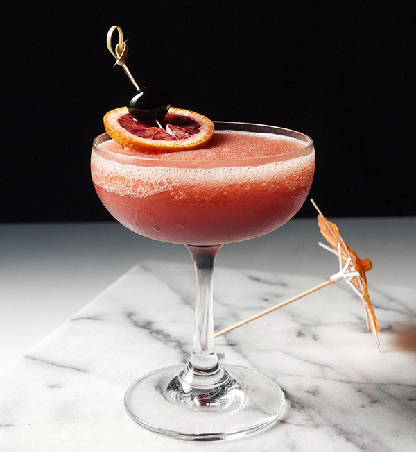 Frozen Blood and Sand Cocktail // stirandstrain.com