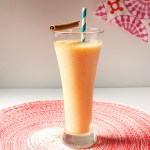 Tropical Rum Peach Frozen Blended Cocktail