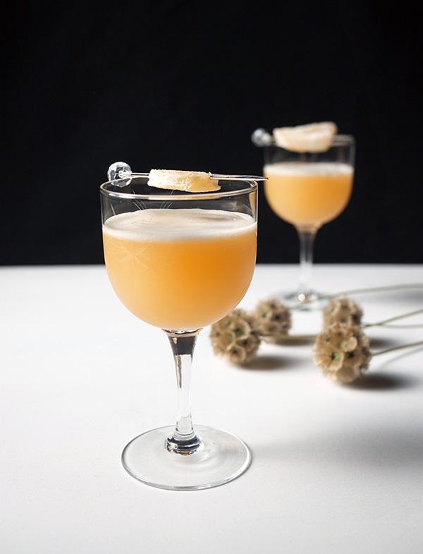 Fresh Ginger Amaretto Sour Cocktails // stirandstrain.com