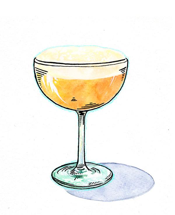 Fresh Passion Fruit Sour Cocktail // stirandstrain.com