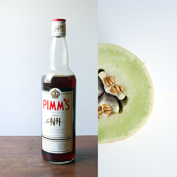 Tarantas Wine Slushie with honeydew, Pimm's No. 1 and crystalized ginger // stirandstrain.com