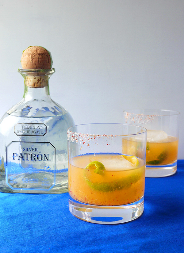 Harissa Explains It All: a sweet and spicy Margarita with Patrón Tequila // stirandstrain.com