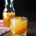 Sparkling Caramelized Peach Rum Punch