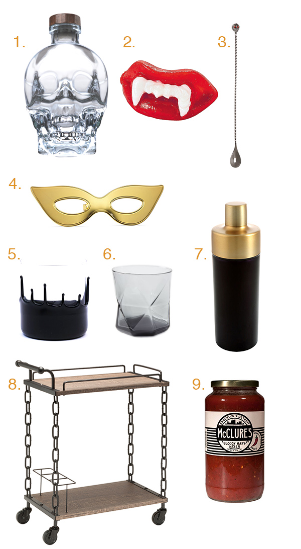Gift Guide: The Halloween Bar Cart 2016 Edition // stirandstrain.com