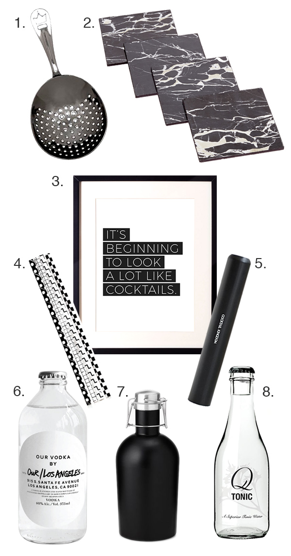 Holiday Gift Guide: Black and White and Booze All Over // stirandstrain.com