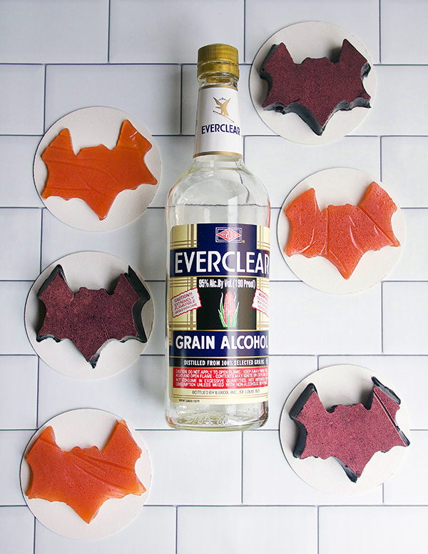 Make It: Black Licorice and Amaro Bat Jellies for Halloween // stirandstrain.com