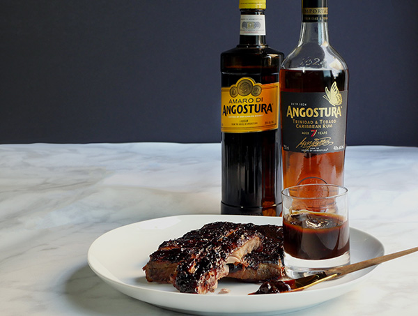 Sweet and Spicy Angostura Sauce for Ribs // stirandstrain.com