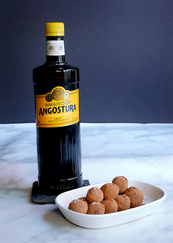 Make It: Angostura Amaro Chocolate Truffles // stirandstrain.com