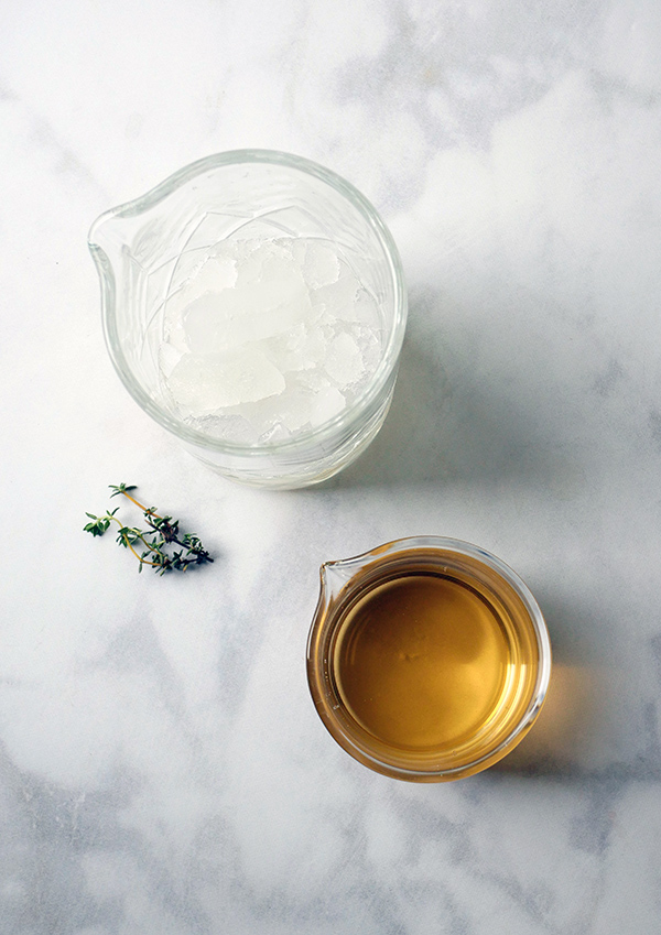 Thyme for Tea Cocktail with Cinzano Bianco Vermouth // stirandstrain.com