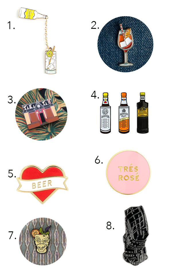 Cool Sh*t: Cocktail Pin Collections // stirandstrain.com
