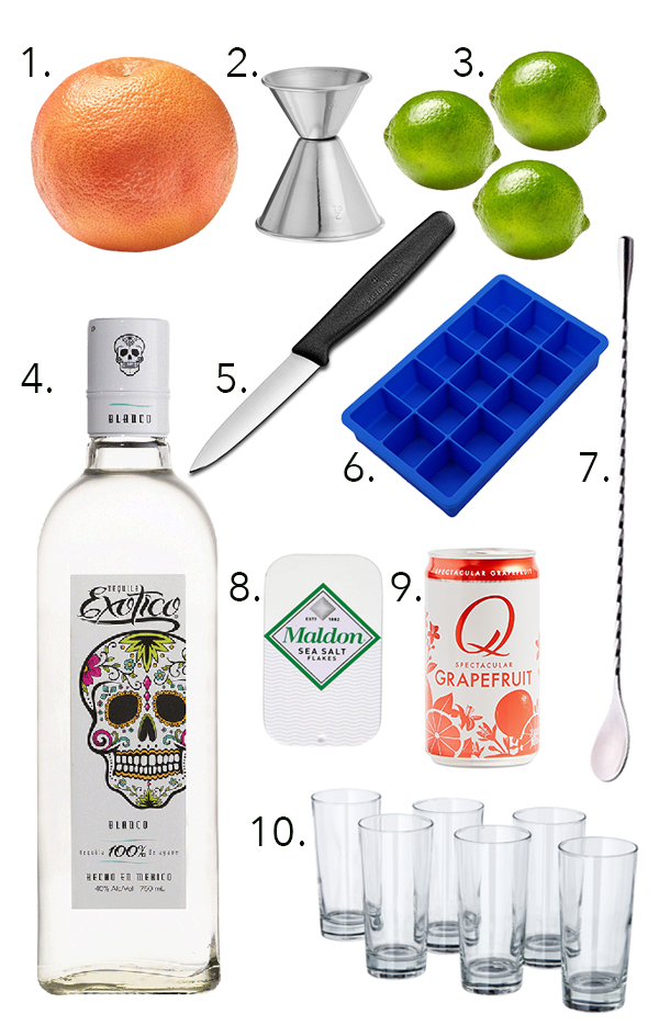 Outfitting a bar under $50: The Paloma Edition // stirandstrain.com