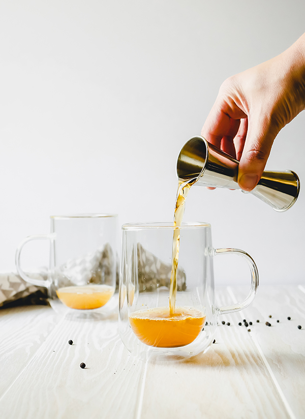 Turmeric Rum Hot Toddy // stirandstrain.com