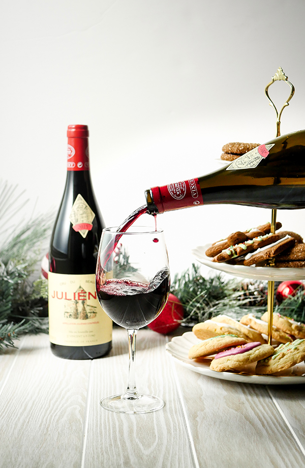 Beaujolais Wine and Holiday Cookie Party // stirandstrain.com