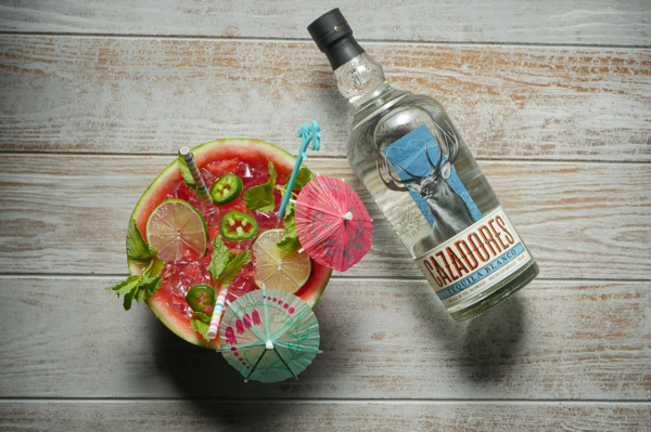 Spicy Watermelon Margarita for Two // stirandstrain.com