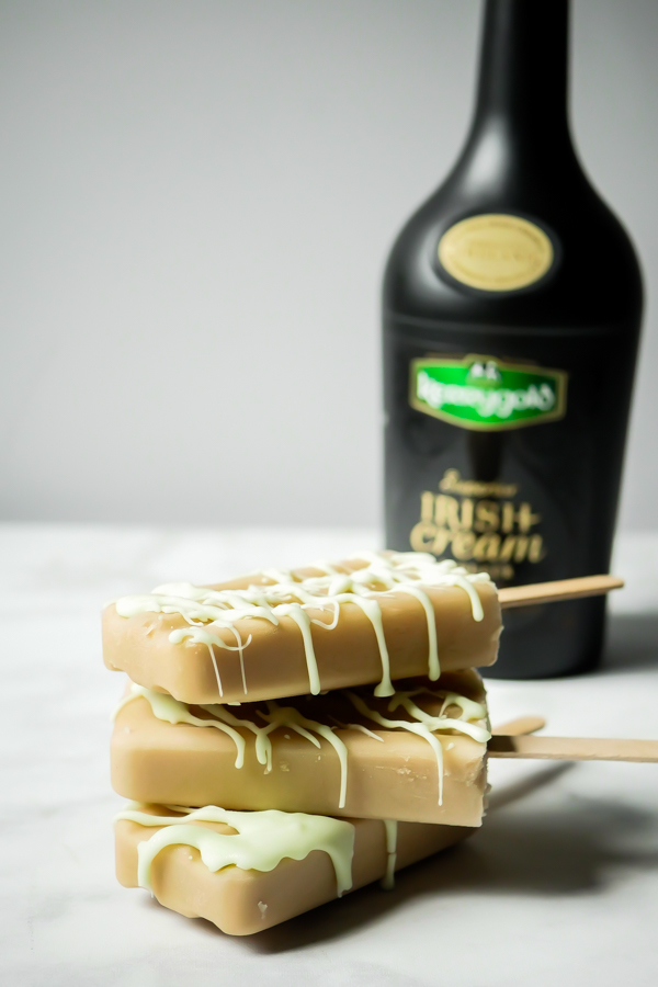 Kerrygold Mint Chocolate Popsicles // stirandstrain.com