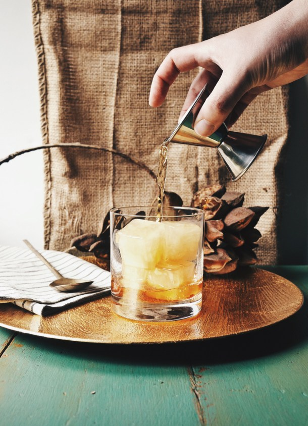 Apple Cider Rum Old Fashioned DineXDesign // stirandstrain.com