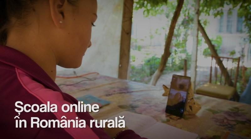 REPORTAJ – Școala online în România rurală. Brătilești, jud.Buzău