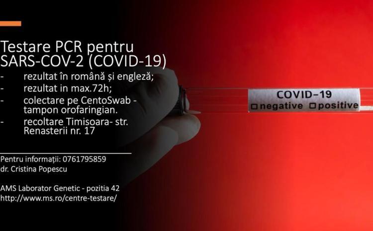 Testare PCR  pentru COVID-19 – analizate în Hamburg