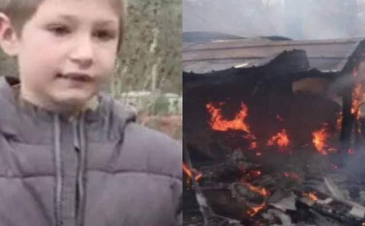Copilul-erou la doar șapte ani. A intrat în foc pentru a-și salva sora