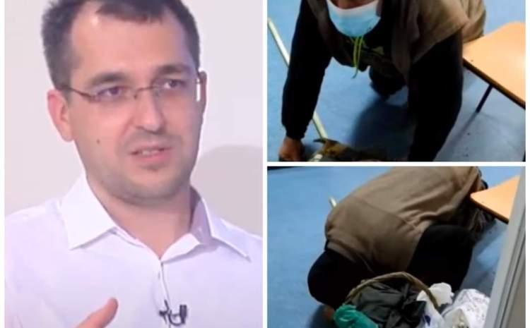 Ministrul Sănătății a luat măsuri drastice în cazul bătrânului de la Corabia, care a zăcut în genunchi în fața asistentelor ore în șir, nefiind ajutat