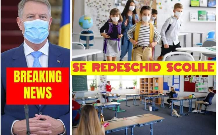 """Klaus Iohannis: """"Din 8 februarie majoritatea şcolilor se vor redeschide"""". Care sunt scenariile"""
